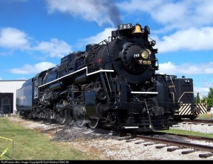 Berkshire 2 8 4 , Built 1944 operates on the Ft. Wayne Historical Railroad. #765